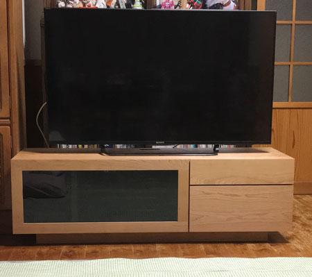 凛TVボード幅1300mmブラックチェリー1