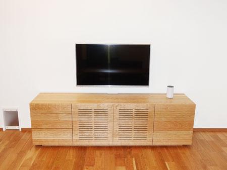 風雅チェスト(TVボード仕様-引き出し3段ブラックチェリー)1