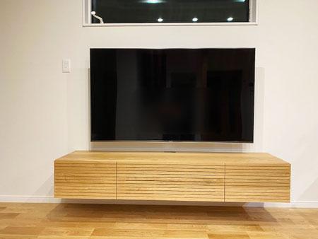 風雅テレビボード幅1800mm ホワイトオークフロート1