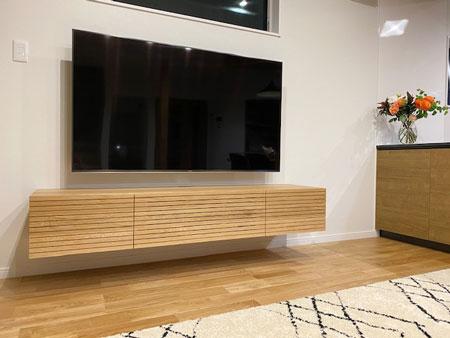 風雅テレビボード幅1800mm ホワイトオークフロート2