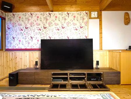 風雅TVボード type2 ウォールナット 幅3000mm