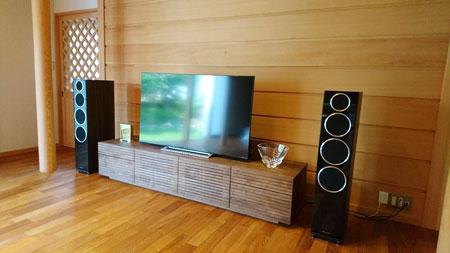風雅TVボード W2000 ウォールナット1