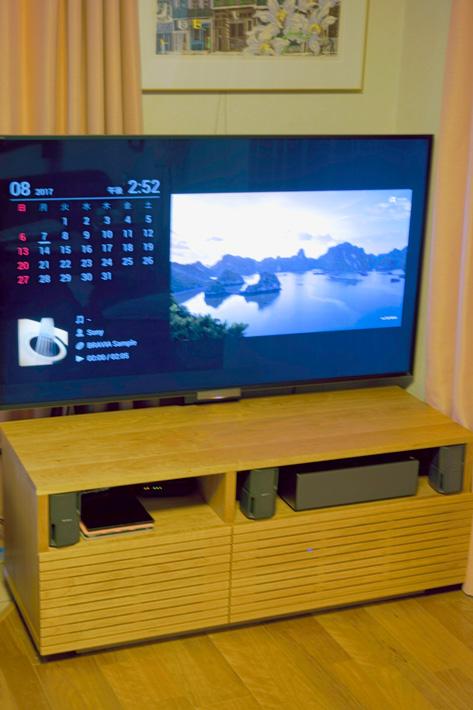天然木のテレビボード-W1200-ブラックチェリー-オーダー仕様1