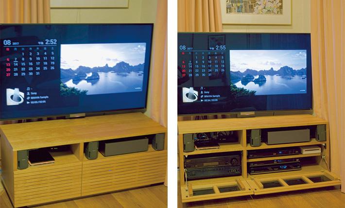 天然木・無垢材を使用したTVボード風雅 オーダー仕様