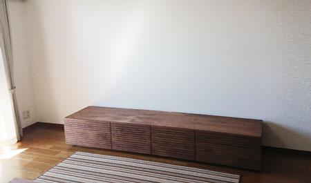 風雅TVボード type2 ウォールナット 幅2400mm
