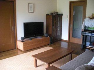 天然木・無垢のテレビボード-幅1500-ブラックチェリー-風雅タイプ2