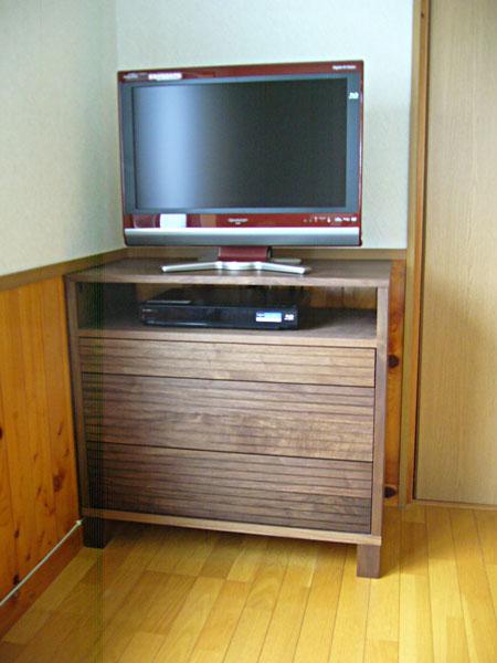 特注ハイタイプテレビボード ウォールナット1