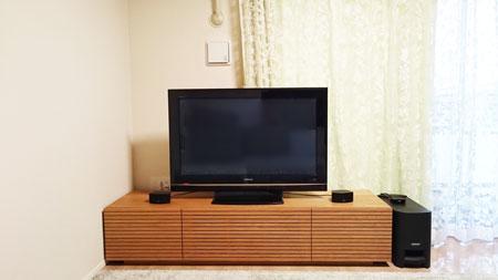 風雅TVボード ホワイトオーク幅1800mm
