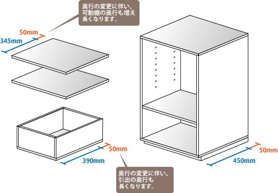 シンプルサイズオーダー 奥行きオーダー説明3
