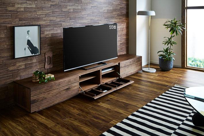 天然木・無垢テレビボード 風雅タイプ2 ウォールナット#05