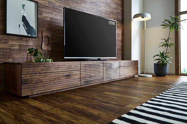 天然木・無垢テレビボード 風雅タイプ2 ウォールナット#06