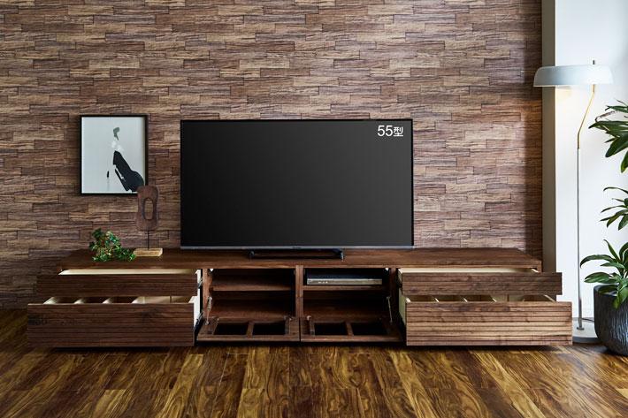 天然木・無垢テレビボード 風雅タイプ2 ウォールナット#07