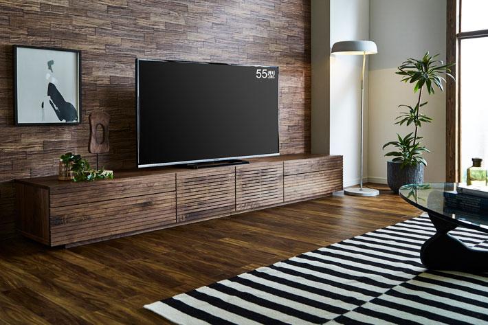 天然木・無垢テレビボード 風雅タイプ2 ウォールナット#08
