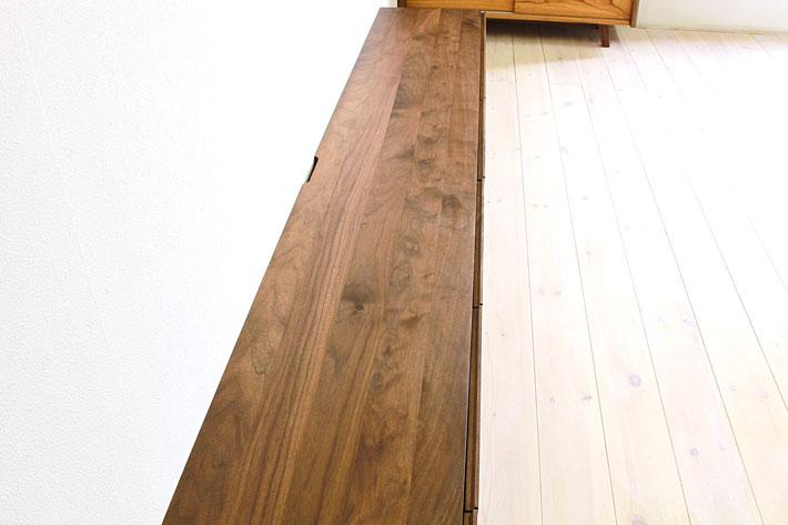 天然木・無垢の大型テレビボード風雅ウォールナット3000mm#12