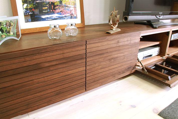 天然木・無垢の大型テレビボード風雅ウォールナット3000mm#13