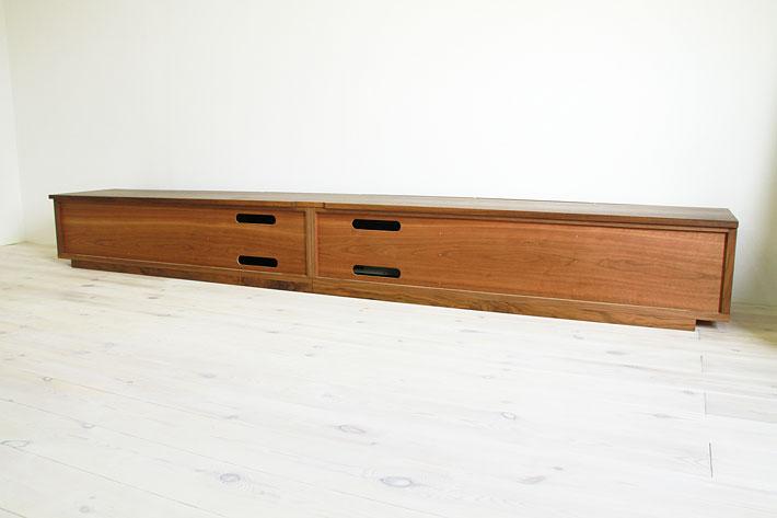天然木・無垢の大型テレビボード風雅ウォールナット3000mm#14