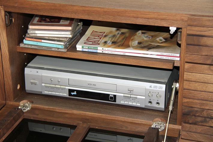 天然木・無垢の大型テレビボード風雅タイプ2ウォールナット3000mm#14