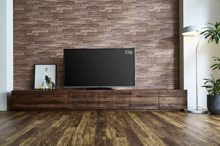 天然木・無垢の大型テレビボード風雅タイプ2ウォールナット3000mm#07